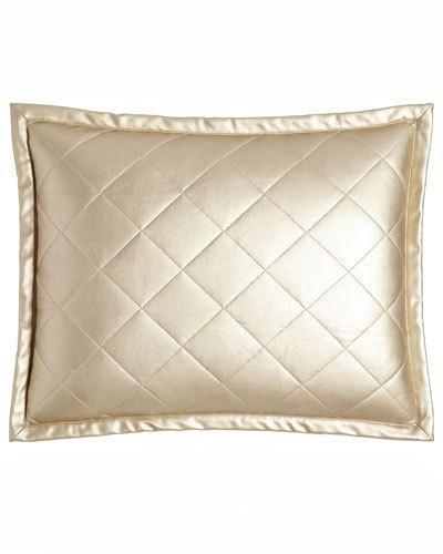 Ann Gish Ann Gish Diamond Faux-Leather Pillow