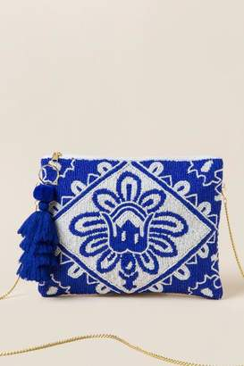 Blakely Beaded Clutch Crossbody - Blue
