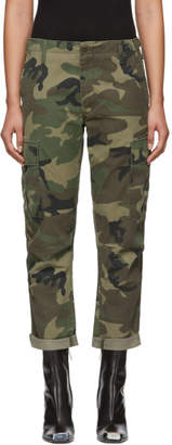 RE/DONE Brown Originals Camouflage Cargo Pants