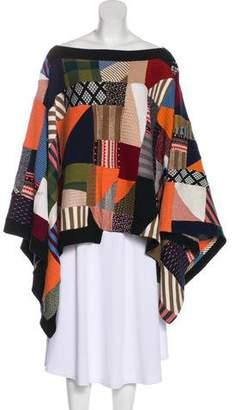 Chloé Patchwork Wool Poncho