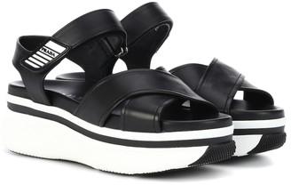 Prada Platform leather sandals