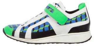 Pierre Hardy Canvas Low-Top Sneakers