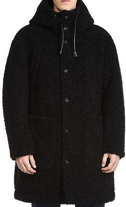 DSQUARED2 Hooded Faux Shearling Coat