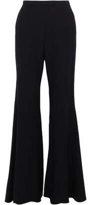 Rosetta Getty Wool-Blend Crepe Wide-Leg Pants