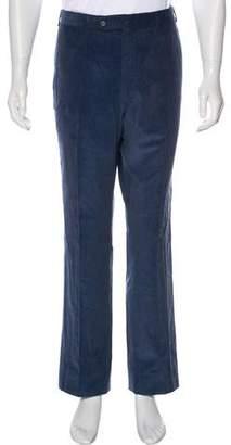 Isaia Flat Front Corduroy Pants