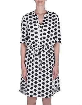 Jump Spot Linen Dress