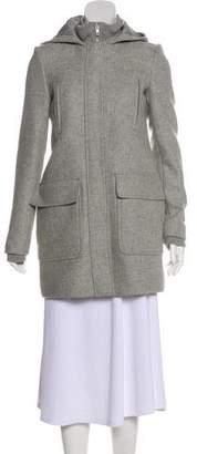 Theory Long Sleeve Wool Coat