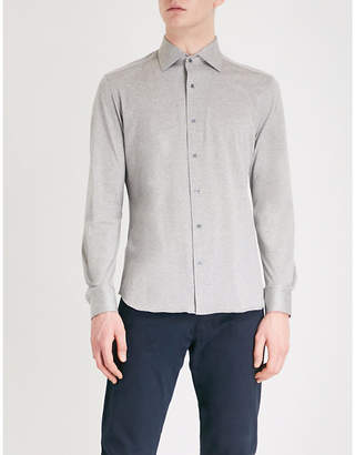 Corneliani Slim-fit cotton-jersey shirt