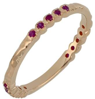 Bony Levy 18K Rose Gold Prong Set Ruby Stacking Band Ring