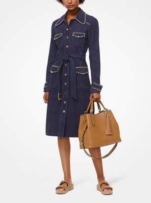 MICHAEL Michael Kors Studded Suede Trench Coat