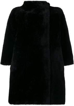 Lanvin asymmetric shearling coat