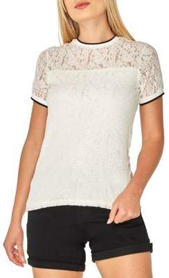 Dorothy Perkins Short-Sleeve Lace Top