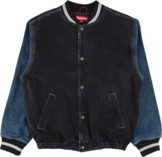 Supreme Denim Varsity Jacket - 'SS 18' - Black
