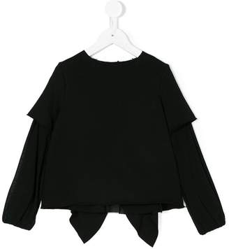 Dondup Kids frilled back layered blouse