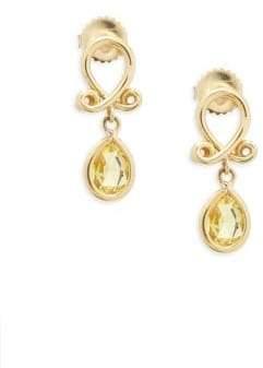 Temple St. Clair 18k Yellow Gold Loop Earrings