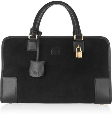 Loewe Amazona leather and suede tote