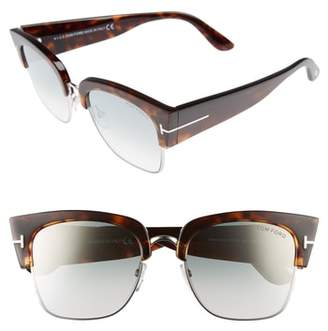 Tom Ford Dakota 55mm Gradient Square Sunglasses