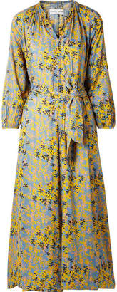 Apiece Apart Isla Belted Printed Voile Jumpsuit - Light blue