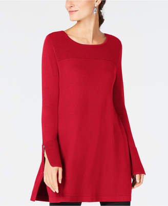Alfani Ribbed Tunic Sweater