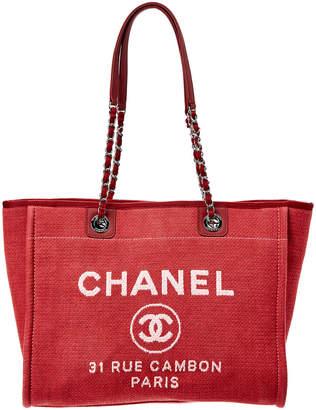 Chanel Pink Denim Deauville Tote