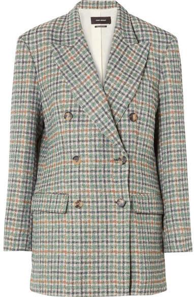 Isabel Marant - Telis Oversized Checked Tweed Blazer - Green