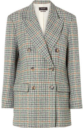 Isabel Marant - Telis Oversized Checked Tweed Blazer - Green
