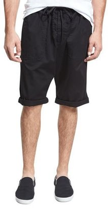 Vince Relaxed Drop-Inseam Shorts, Black $185 thestylecure.com