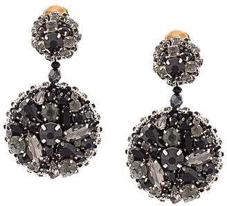 Oscar de la Renta jeweled disc earrings