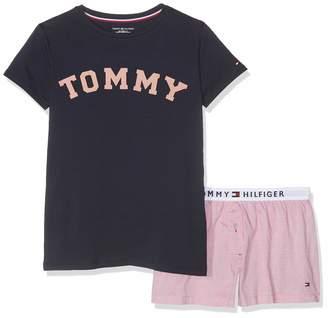 Tommy Hilfiger Girls' SS Short Set Woven Pyjama