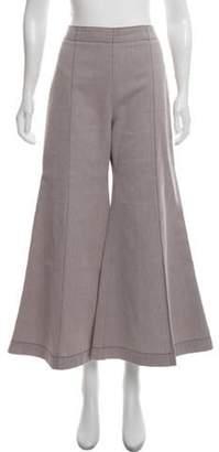 Acne Studios High-Rise Olexa Twill Pants Pink High-Rise Olexa Twill Pants