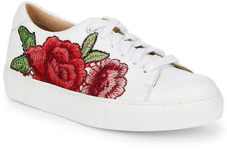 Saks Fifth Avenue Floral Leather Sneaker