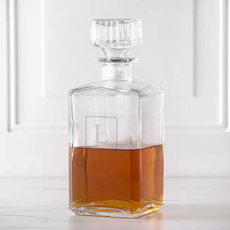 Cathy's Concepts CATHYS CONCEPTS Monogrammed Glass Square Whiskey Decanter