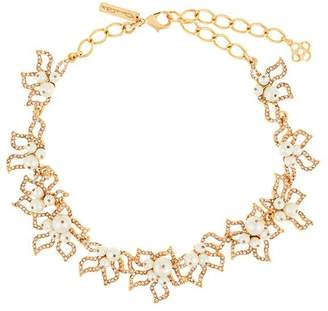 Oscar de la Renta faux-pearl embellished necklace