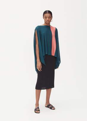Issey Miyake Bloom Color Block Poncho