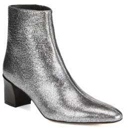 Vince Lanica Cracked Metallic Leather Boots