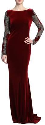 Badgley Mischka Long Sleeve Gown