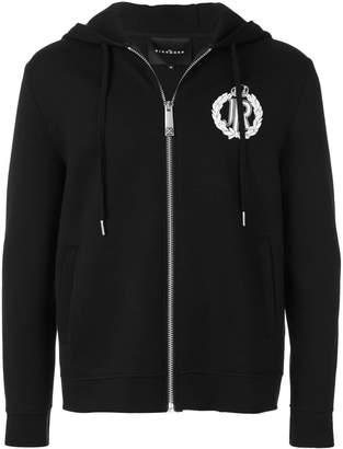 John Richmond logo crown hoodie