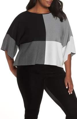 Eileen Fisher Colorblock Tencel(R) Lyocell Sweater