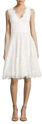 Vera Wang Scarlet Lace A-Line Dress $228 thestylecure.com