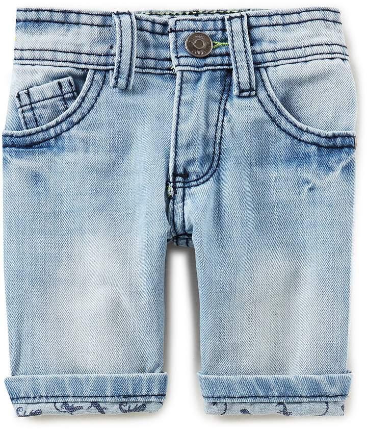Hollywood Little Boys 2T-7 Roll-Cuff Denim Shorts