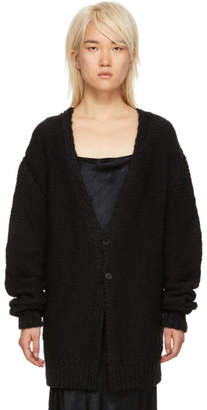 Ann Demeulemeester Black Hand Knit Moby Cardigan