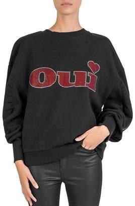 The Kooples Fleece Oui Sweatshirt
