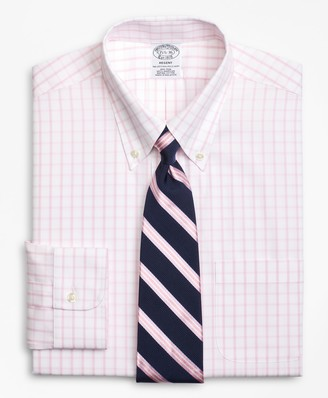 Brooks Brothers Regent Fitted Dress Shirt, Non-Iron Windowpane