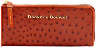 Dooney & Bourke Ostrich Zip Clutch