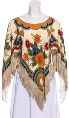 Anna Sui Silk Floral Top