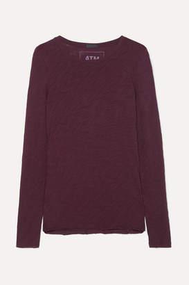 ATM Anthony Thomas Melillo Slub Cotton-jersey Top - Burgundy