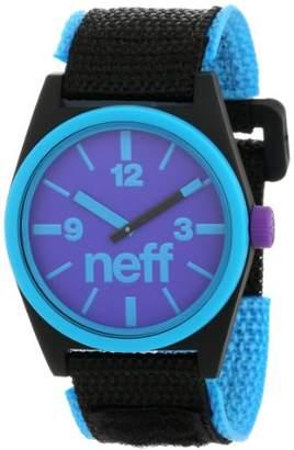 Neff Unisex NF0217CYBK Duo Analog Display Japanese Quartz Blue Watch
