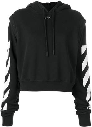 Off-White stripe detailed hoodie