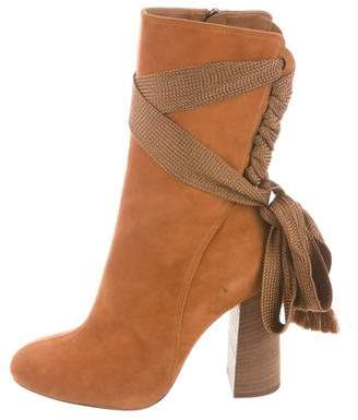 Chloé Lace-Up Round-Toe Boots w/ Tags