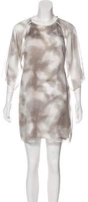Halston Cutout Mini Dress